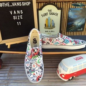 Vans Mash Up Stickers Classic Slip On Sneakers